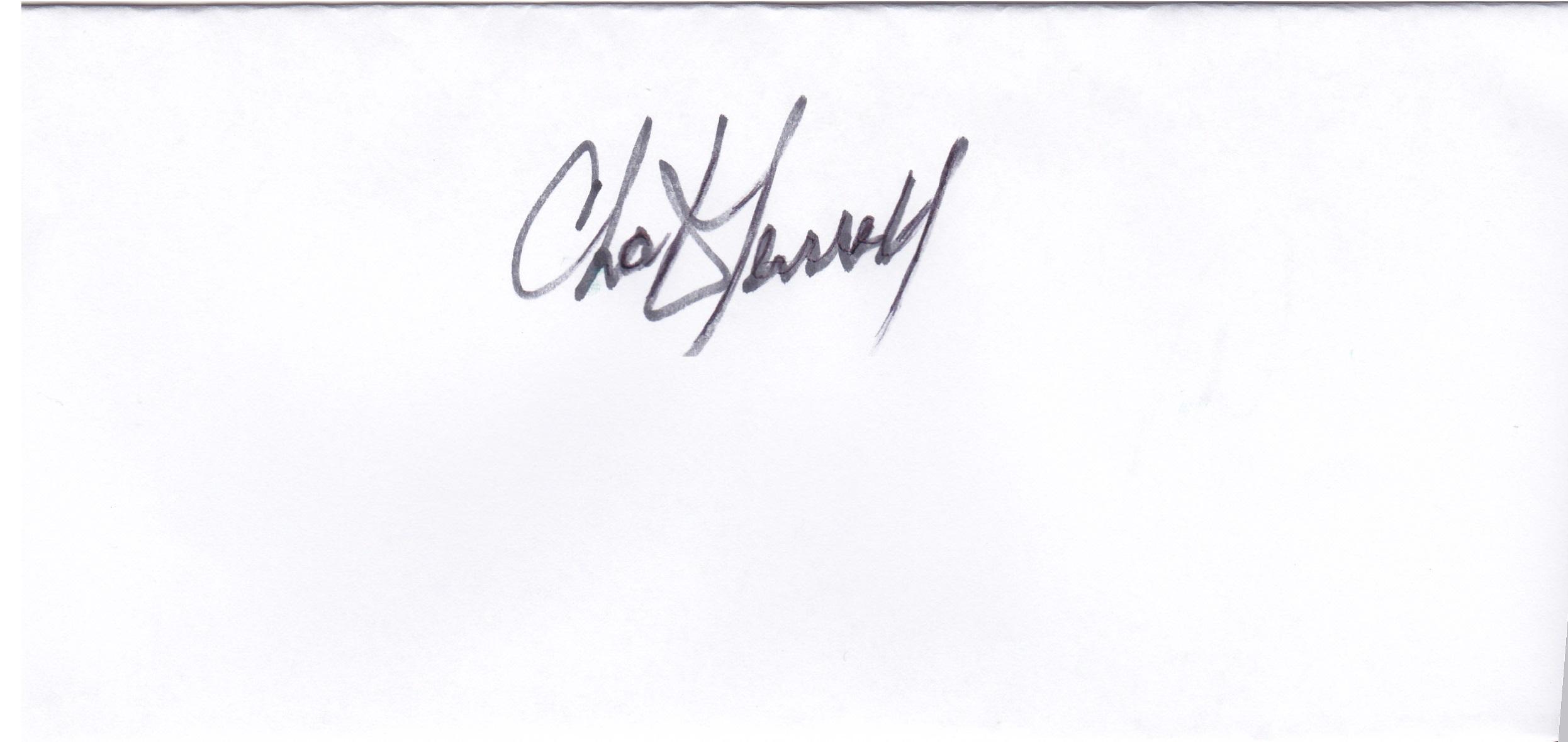 Chuck Terrell Signature