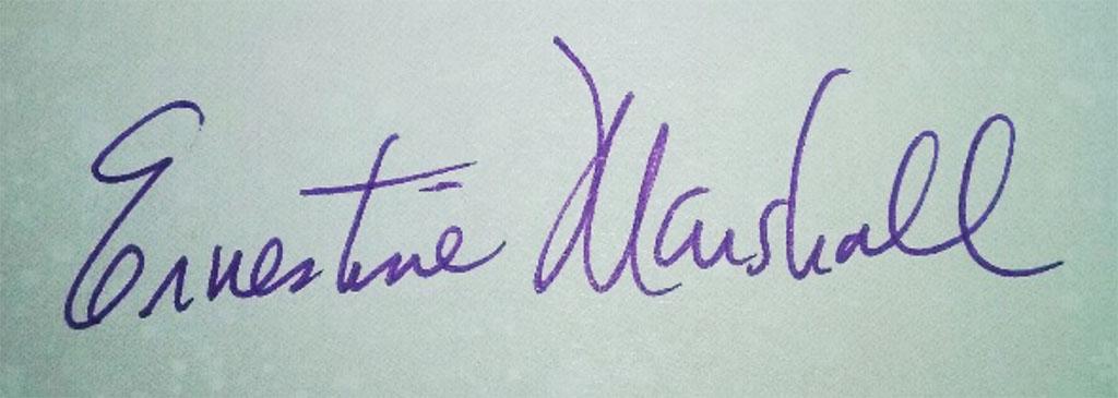 Ernestine Marshall Signature