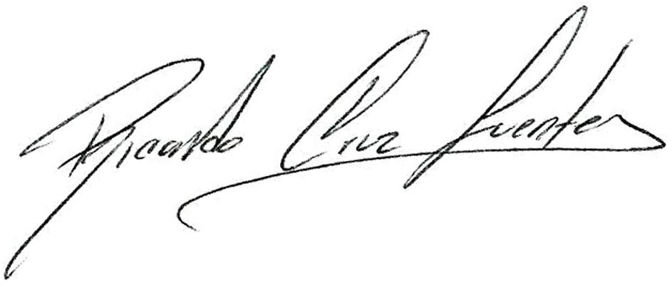 Ricardo Cruz Fuentes Signature