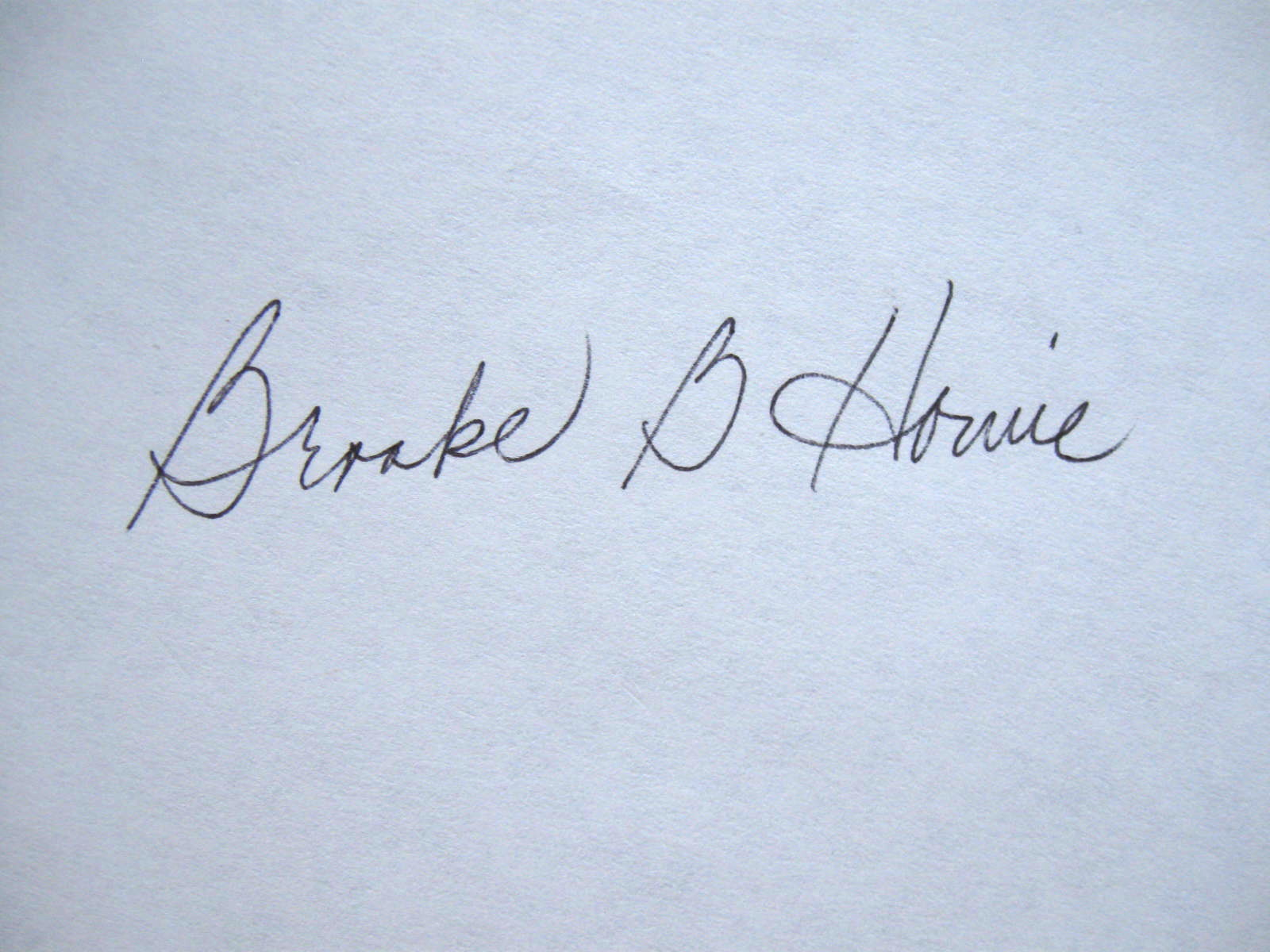 Brooke Howie Signature