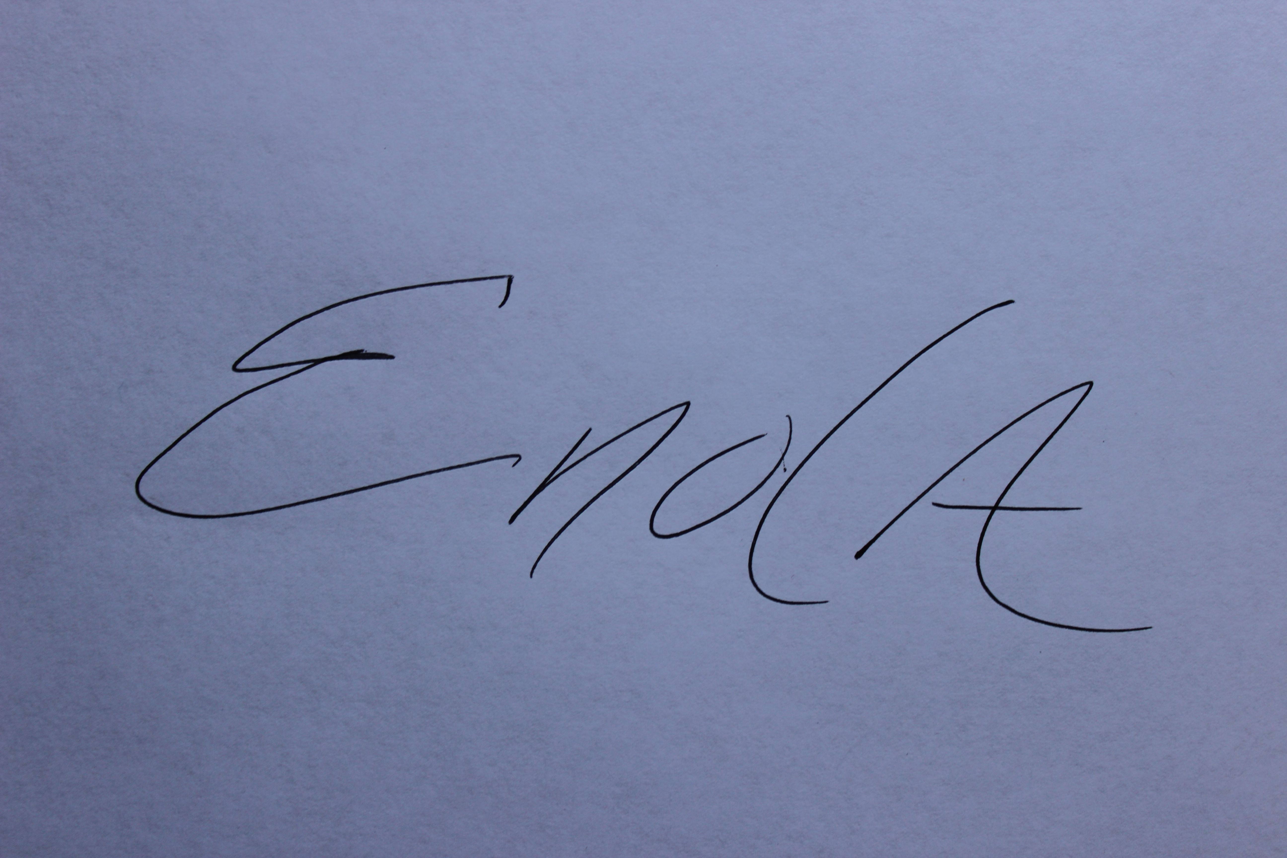 Enola McClincey Signature