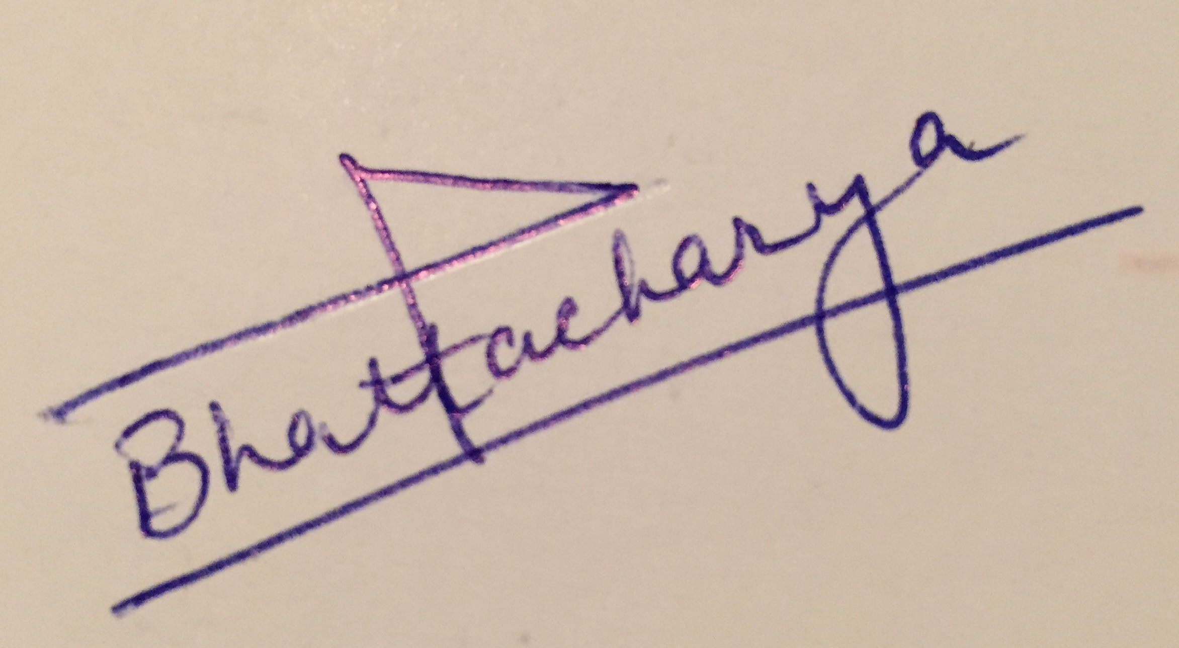Shampa Bhattacharya Signature