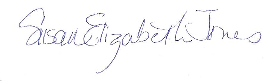 susan Elizabeth jones Signature