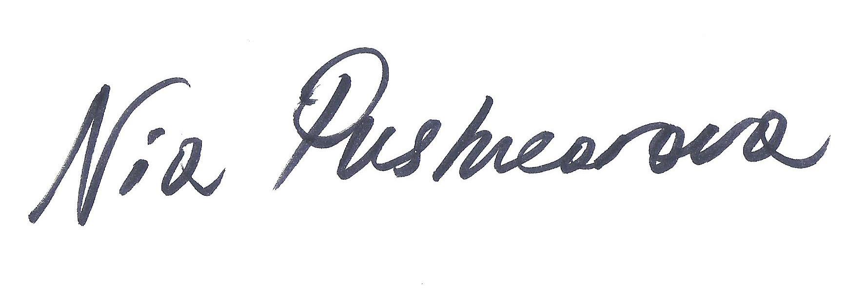 Nia Pushkarova Signature