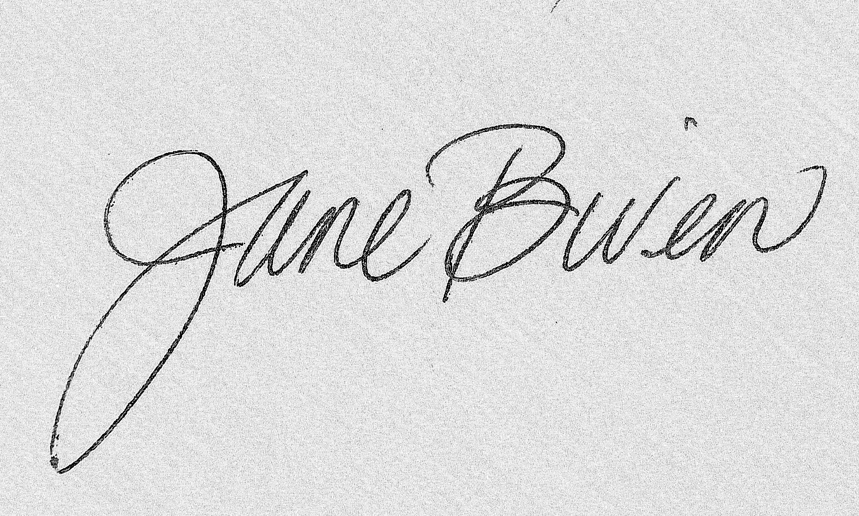 Jane Biven Signature
