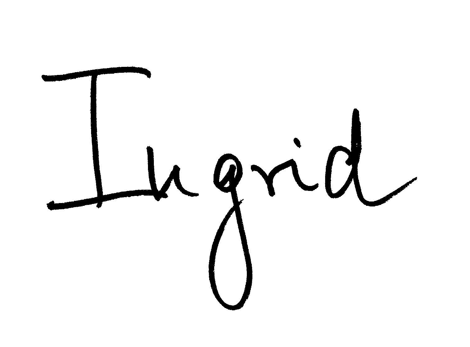 Ingrid McCarthy Signature