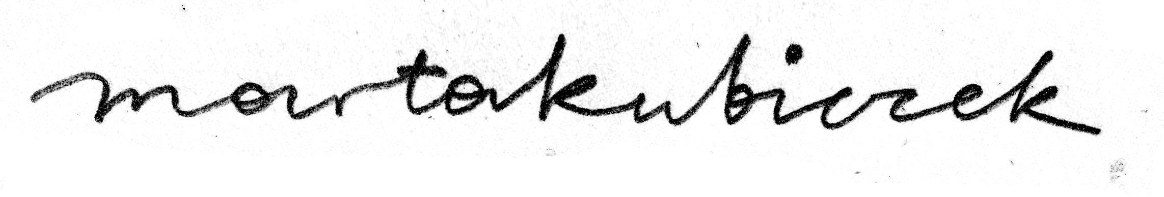 Marta Kubiczek Signature