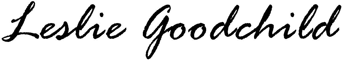 Leslie Goodchild Signature