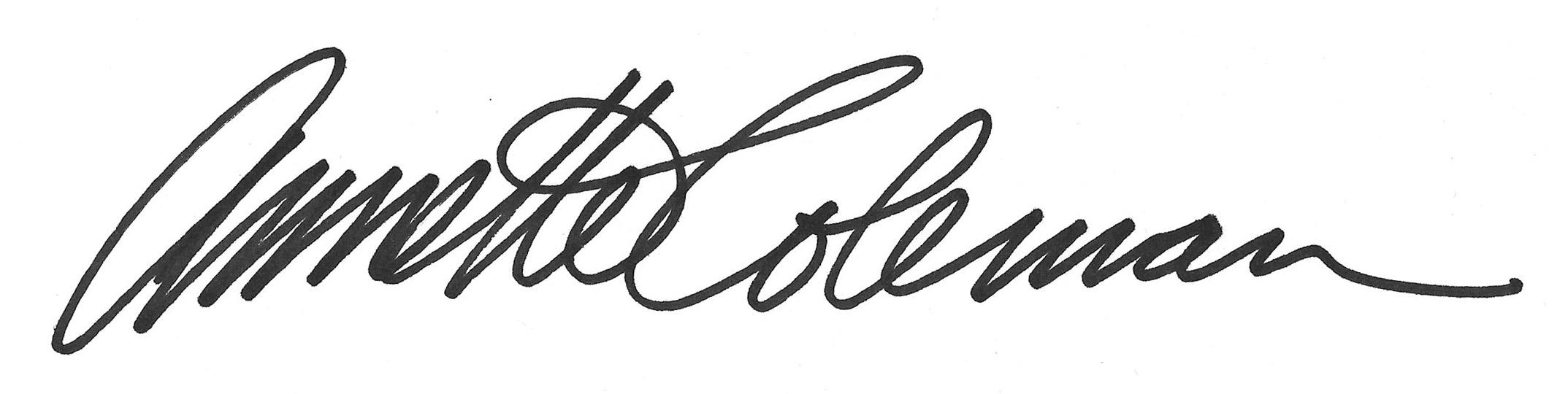 Annette Coleman Signature