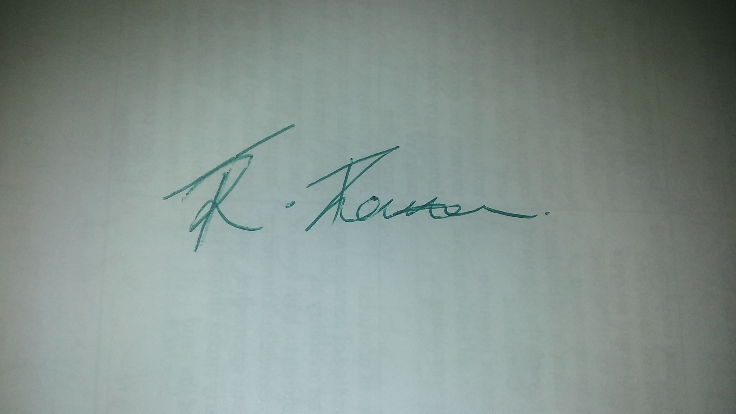 Raquel Thompson Signature