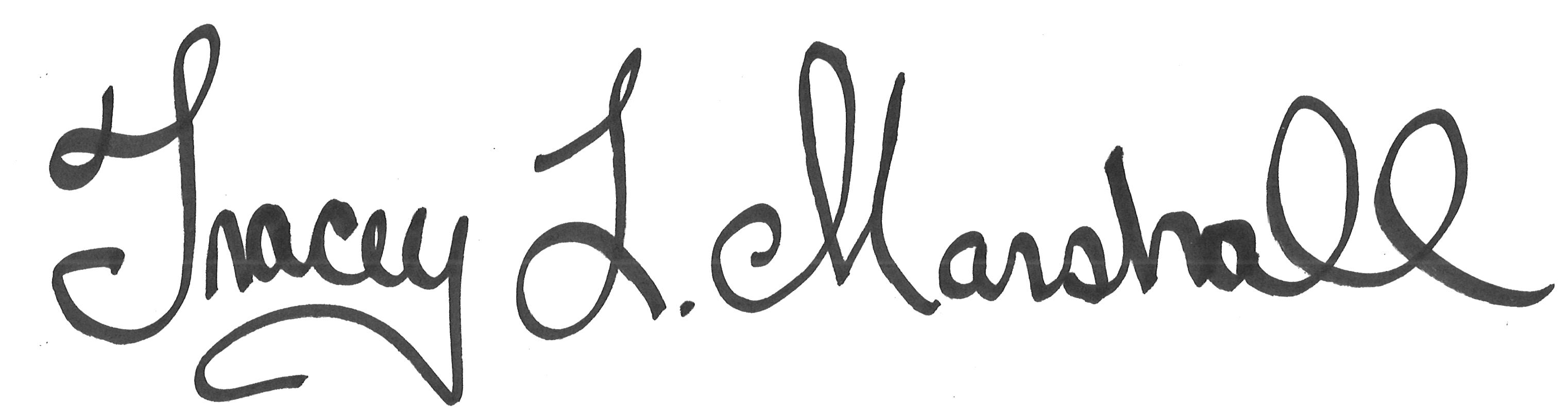 Tracey L. Marshall Signature