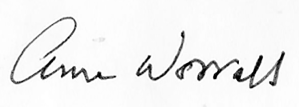 Anne Worrall Signature