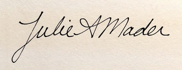 Julie Mader Signature