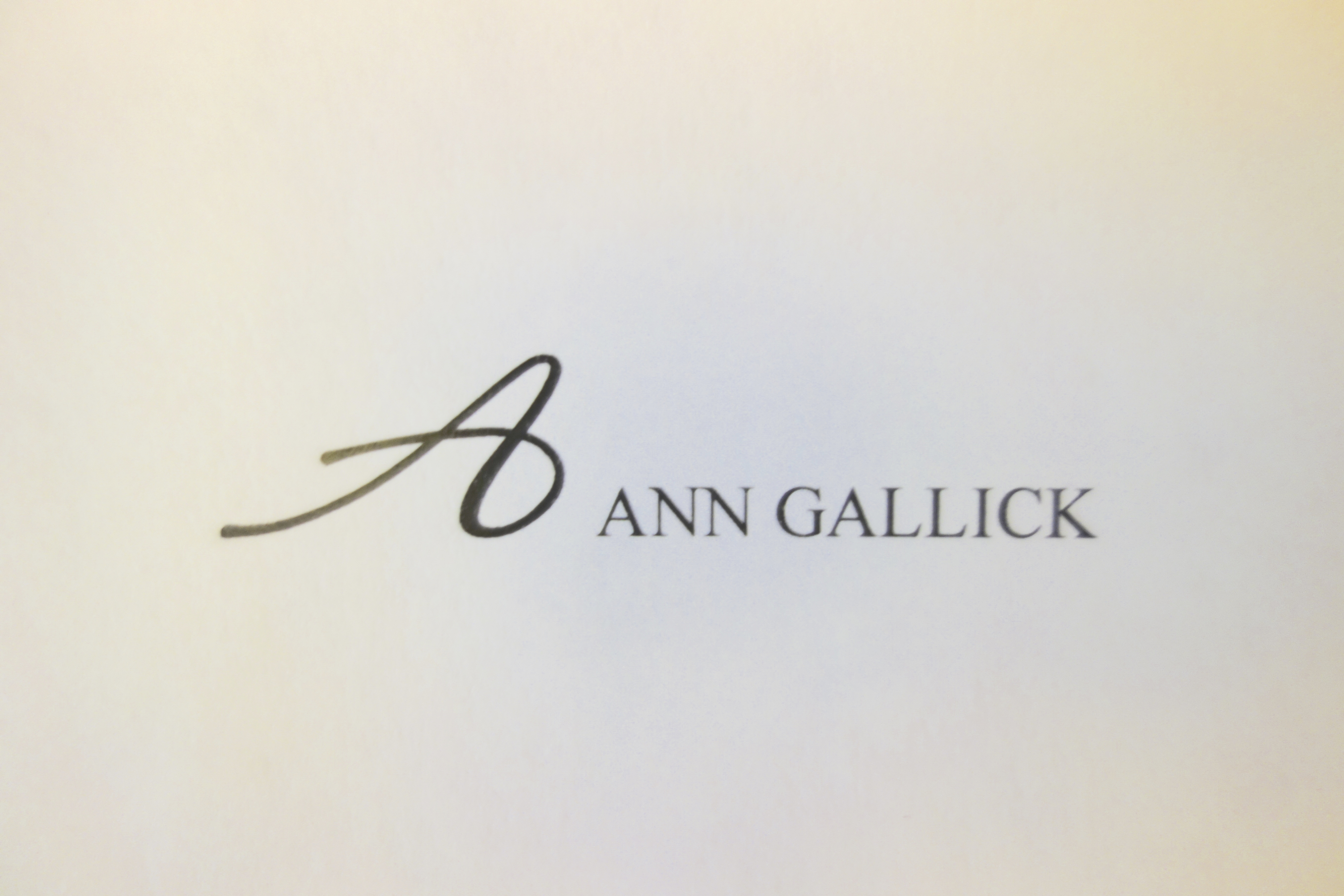 Ann Gallick Signature