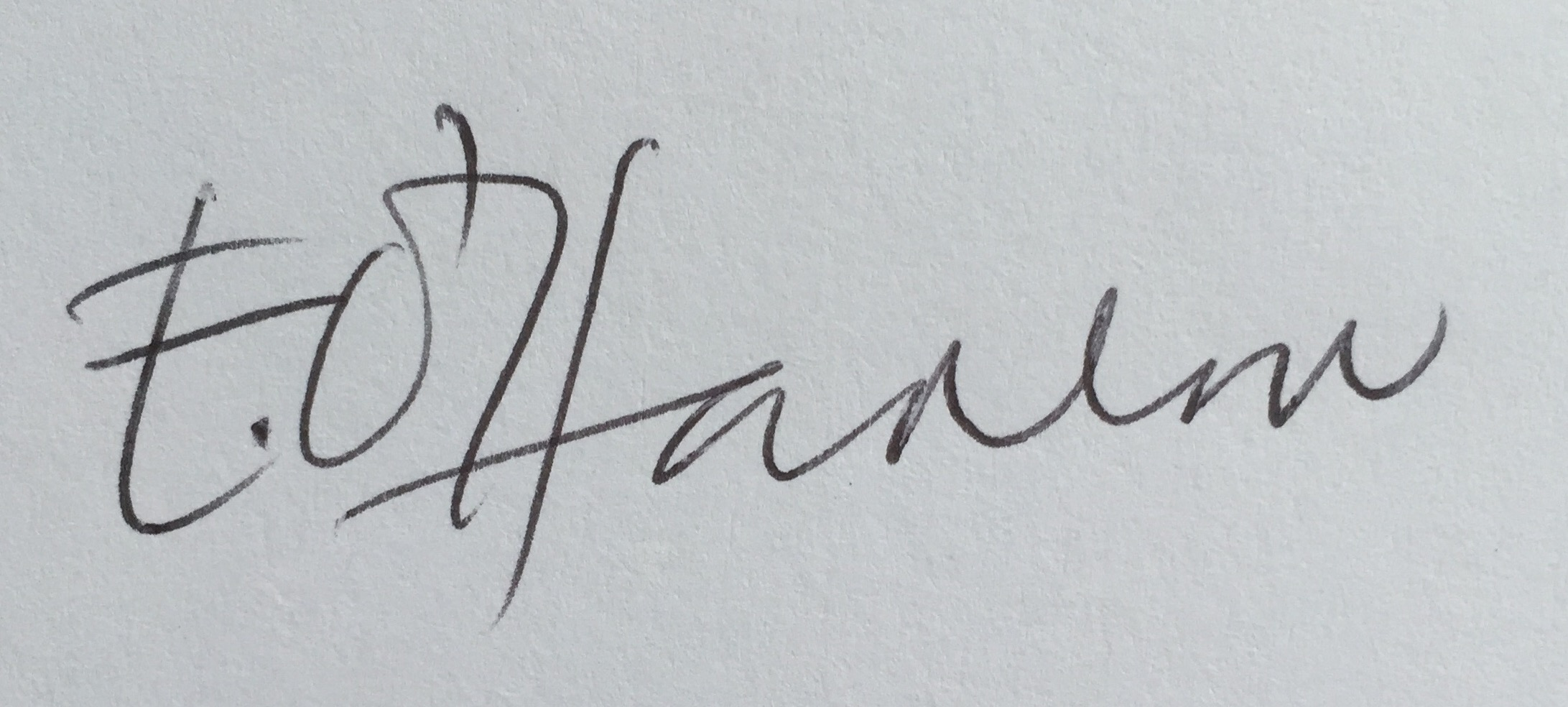 Elvie O'Hanlon Signature