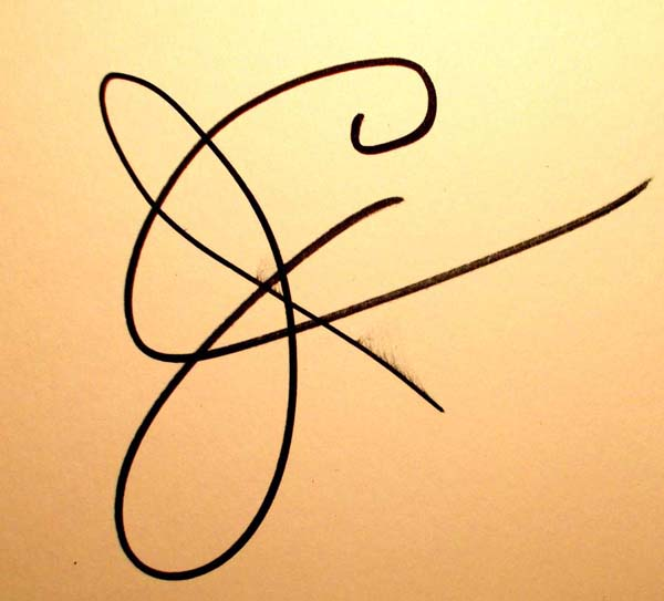 James Corcoran Signature