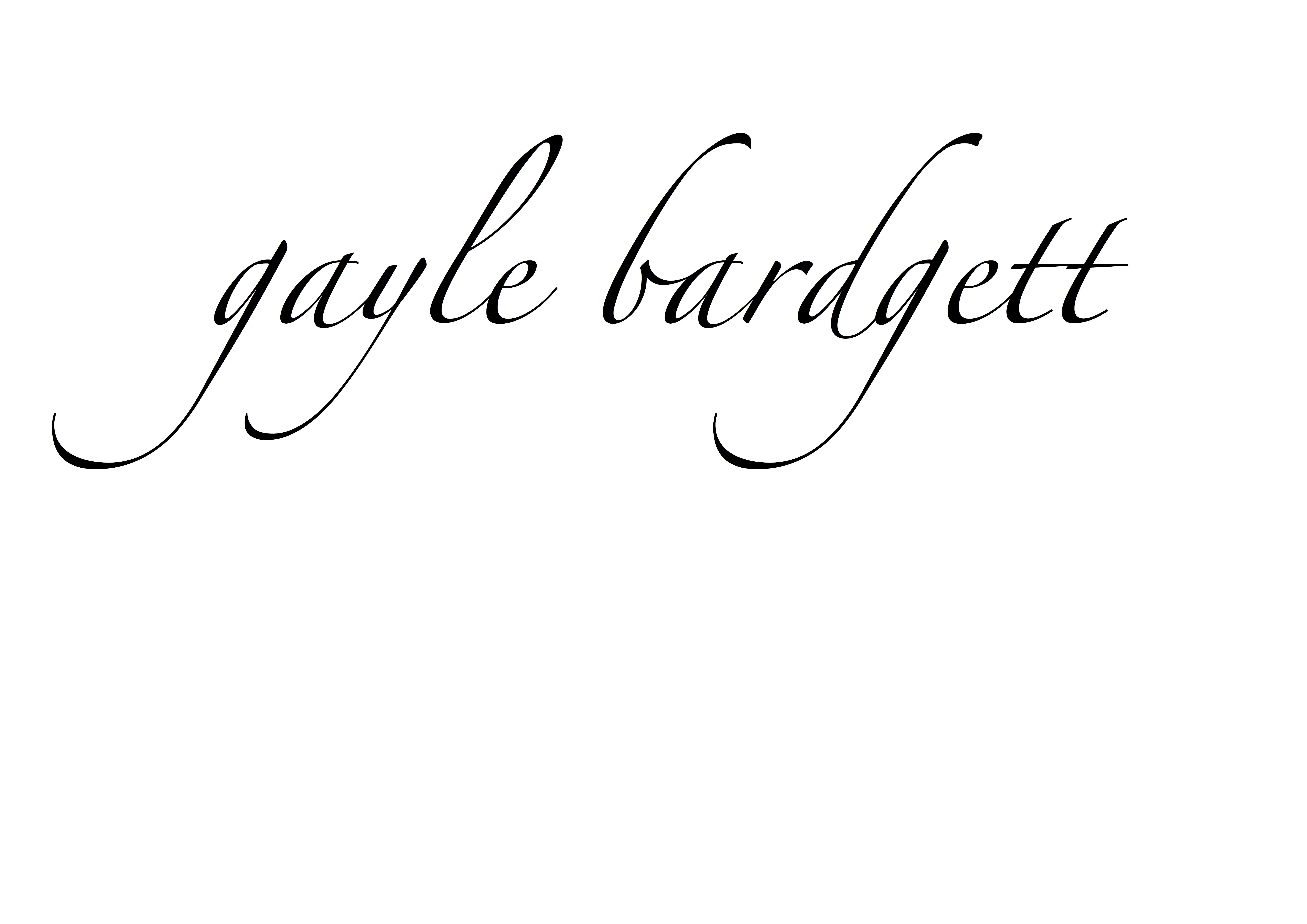 Gayle Bardgett Signature