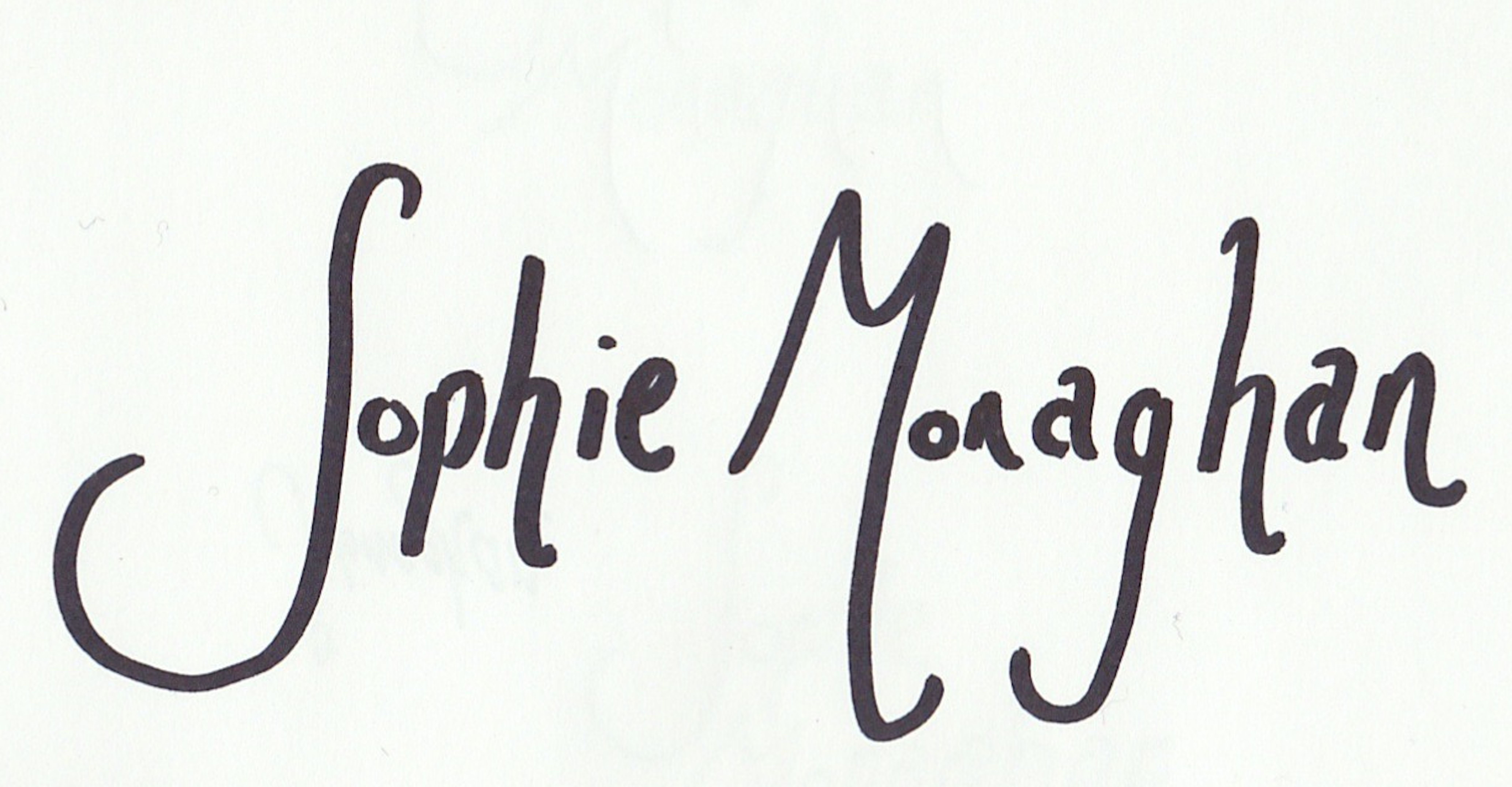 Sophie Monaghan Signature