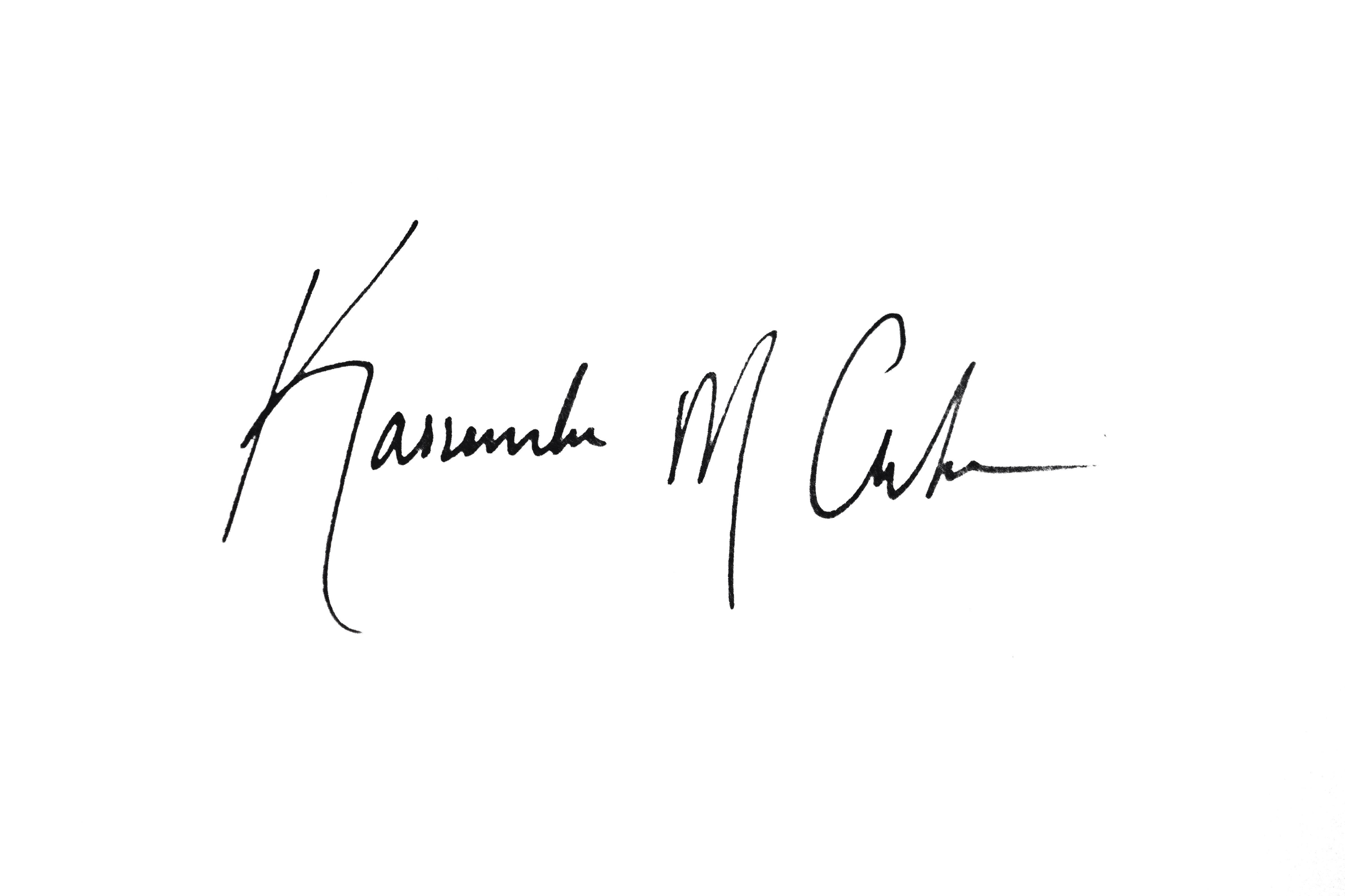 Kassandra Clarke Signature
