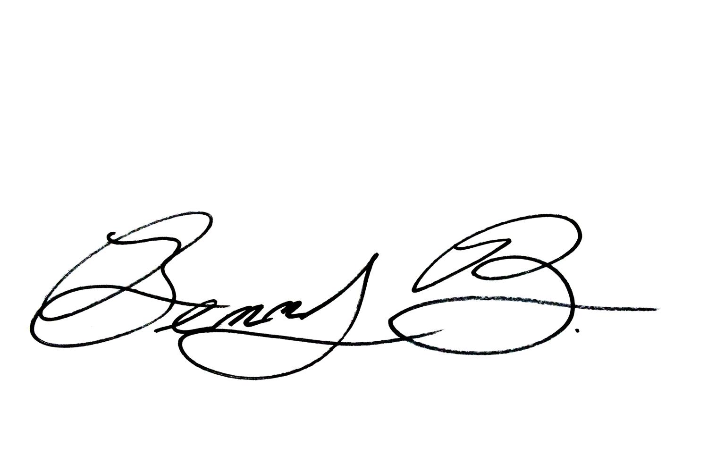 Ben bacon Signature