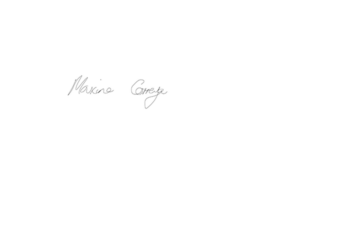 Maxine Correya Signature