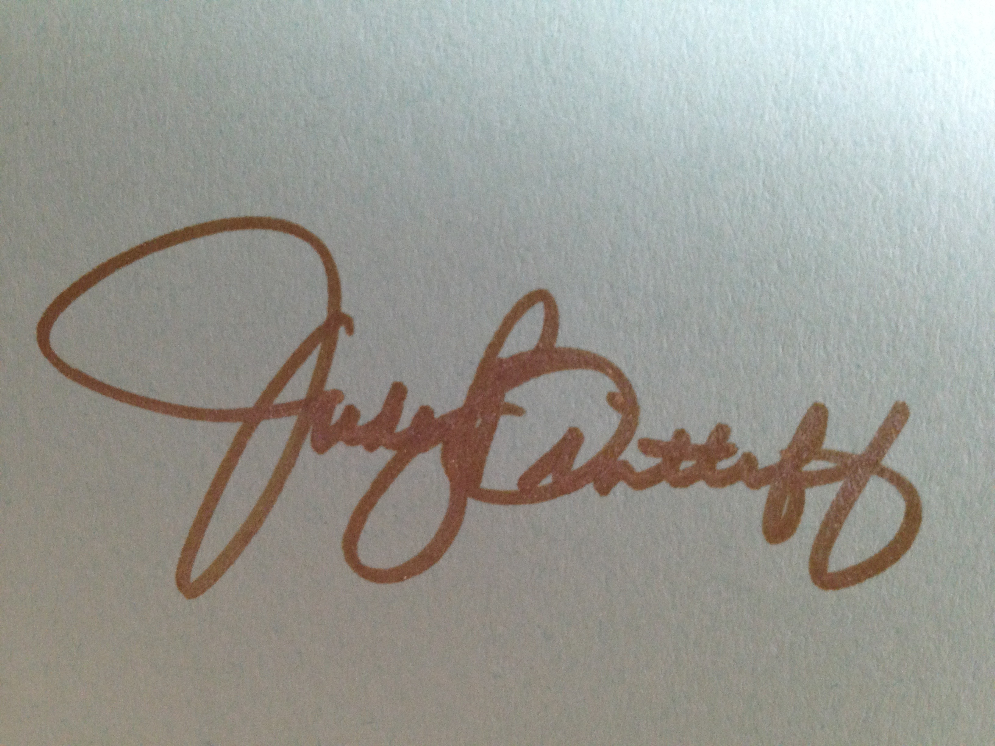 Judy Bintliff Signature