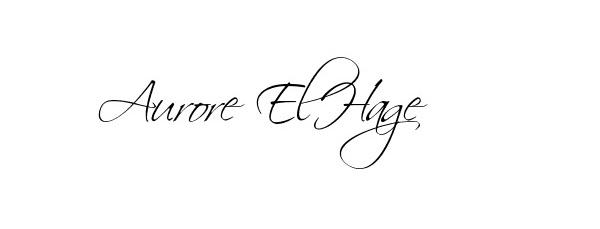 Aurore El-Hage Signature