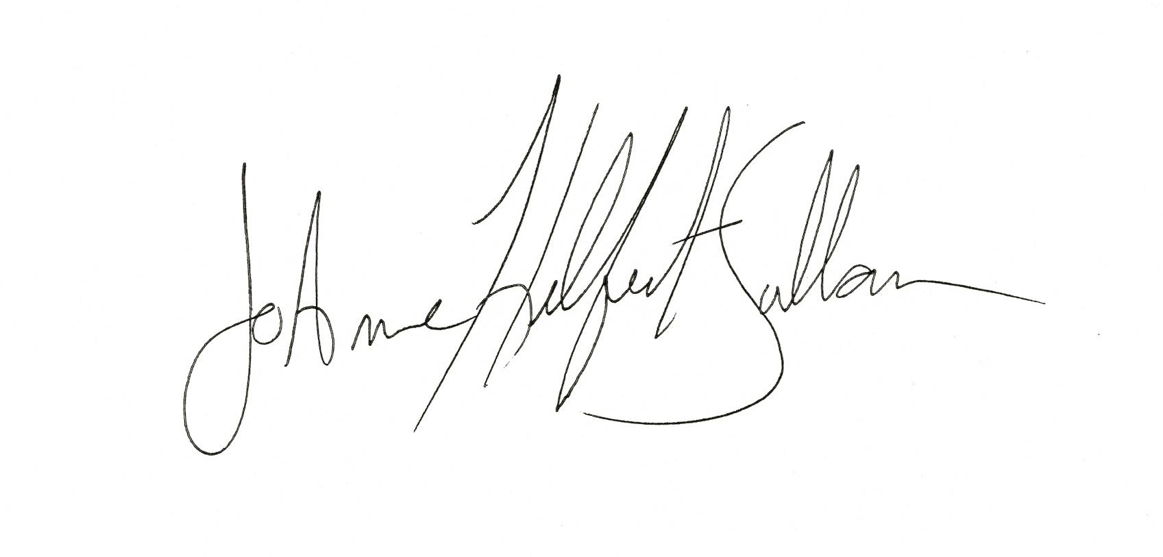 JoAnne Helfert Sullam Signature