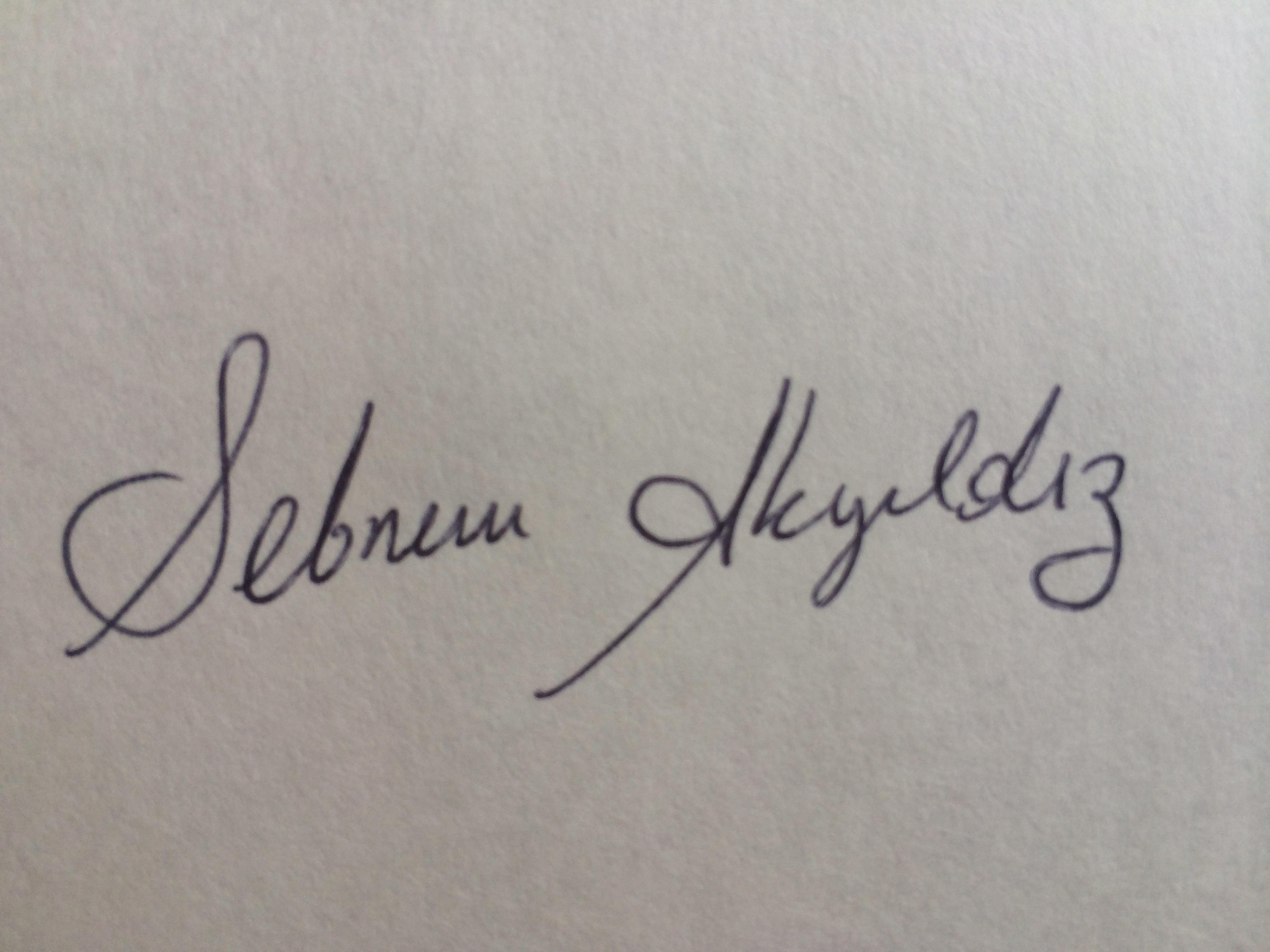 Sebnem AKYILDIZ Signature