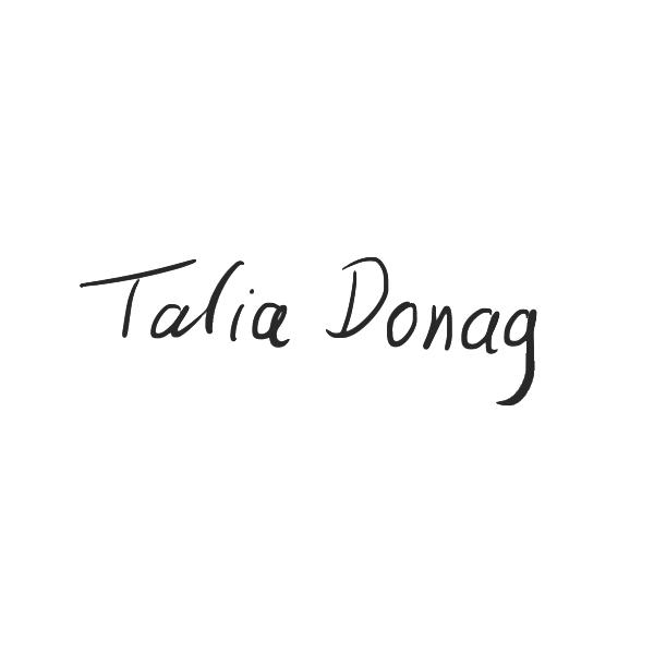 Talia Donag Signature