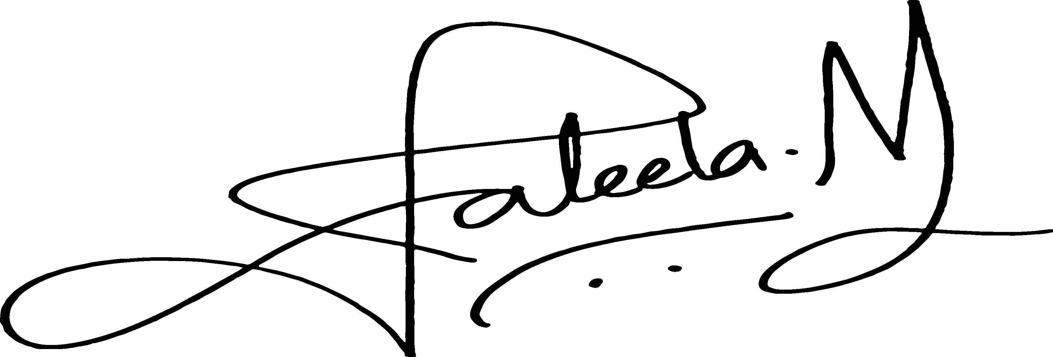Jaleela Niaz Signature