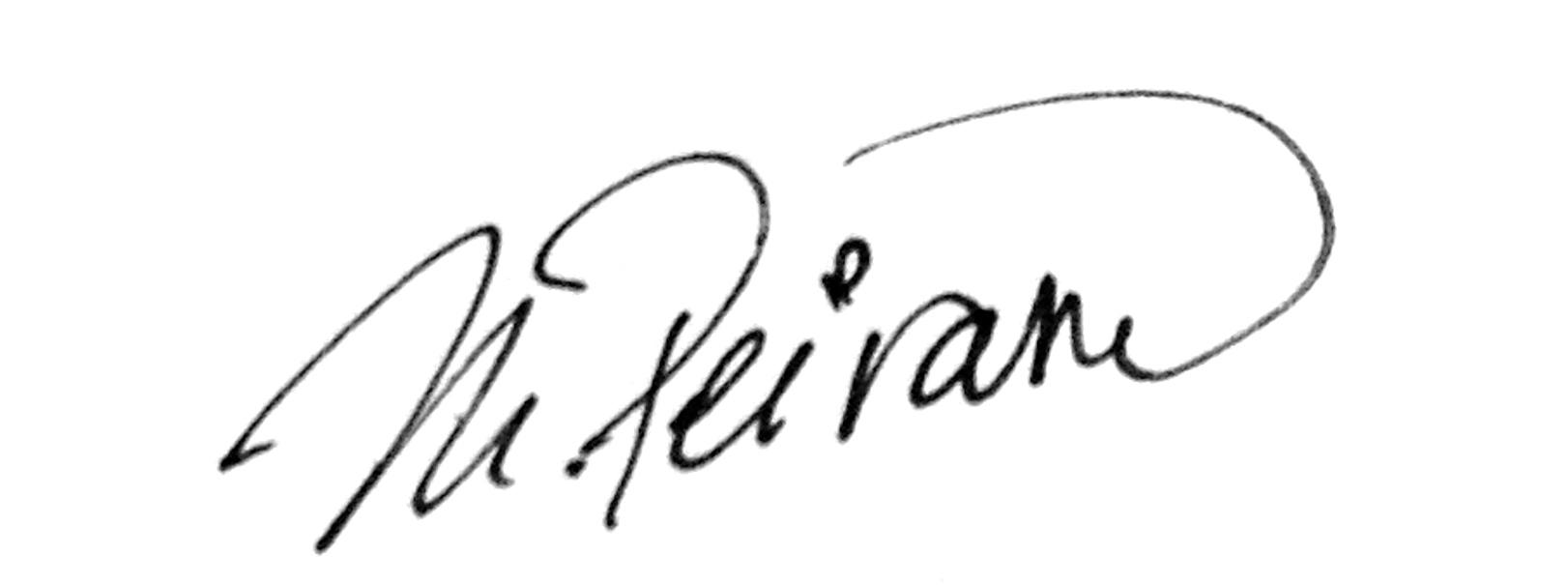 Mariana Peirano Signature