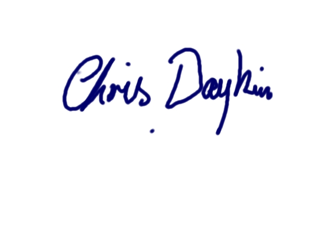 Chris Daykin Signature