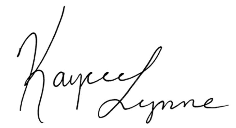 Kaycee Lynne Signature