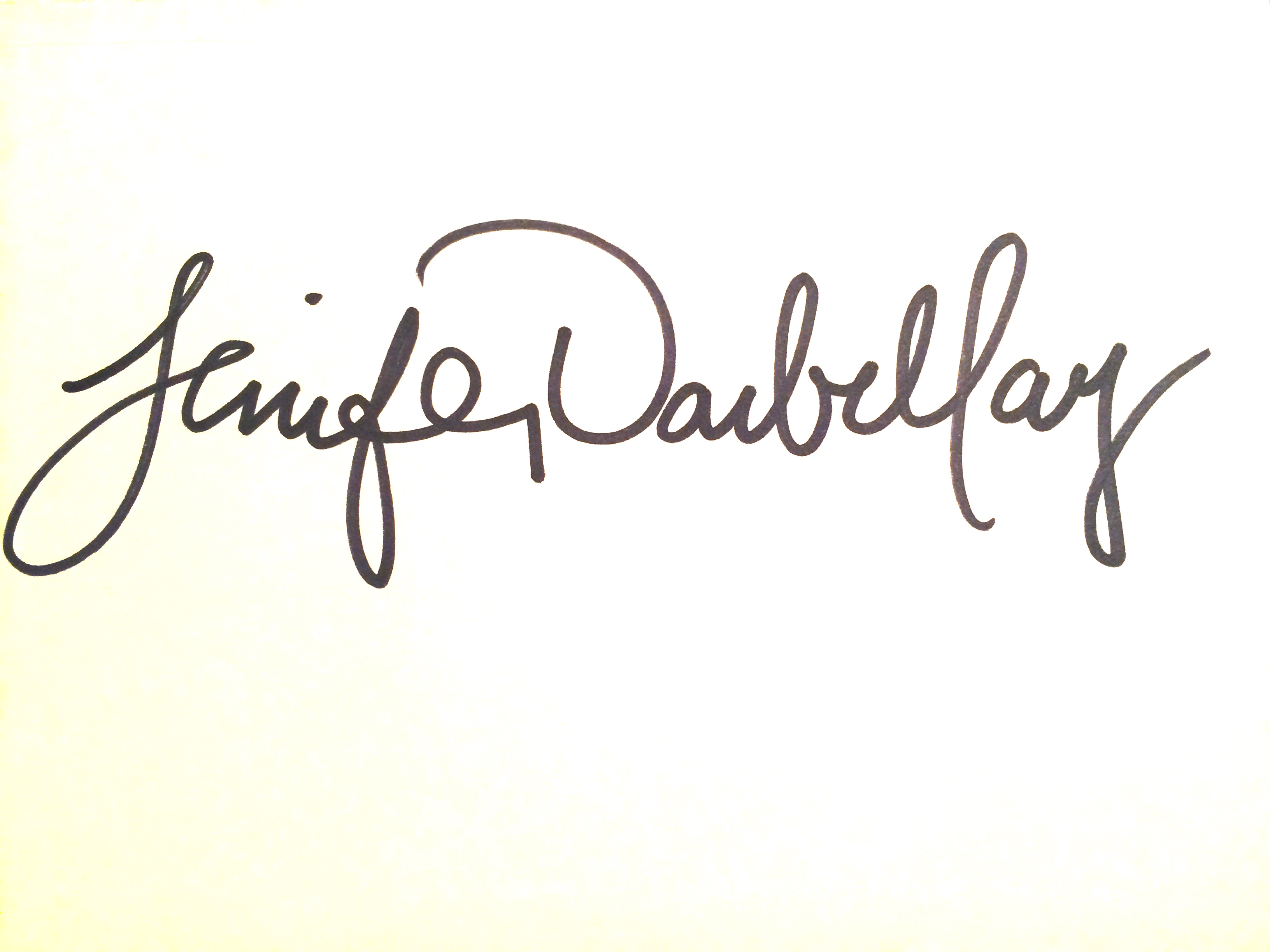 Jenifer Darbellay Signature