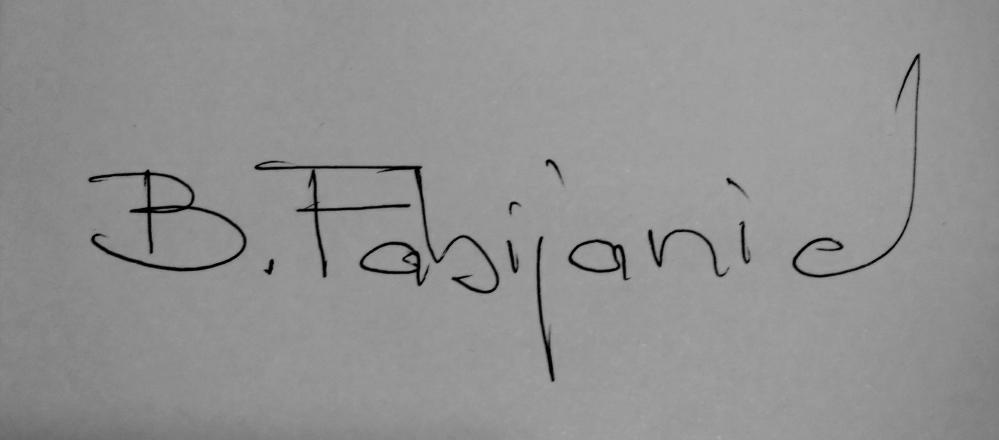 Branislav Fabijanic Signature