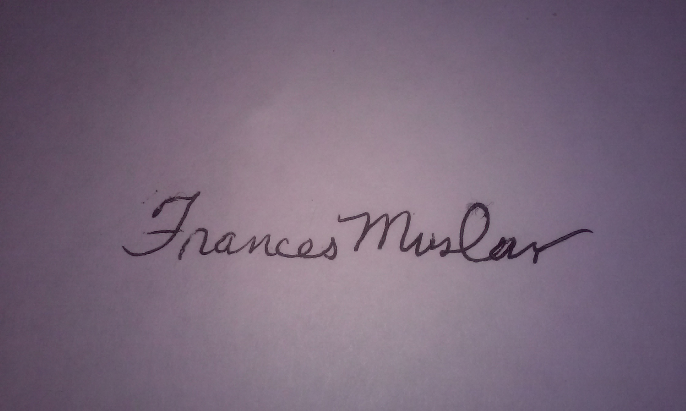 Frances Muslar Signature