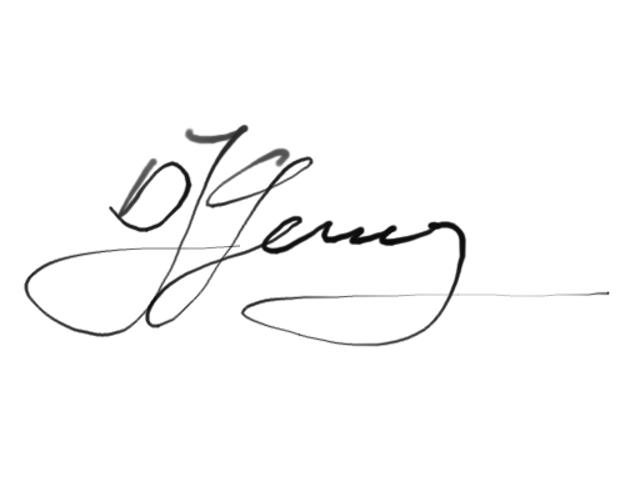 Gerald Schickhuber Signature