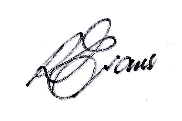 Ron Evans Signature