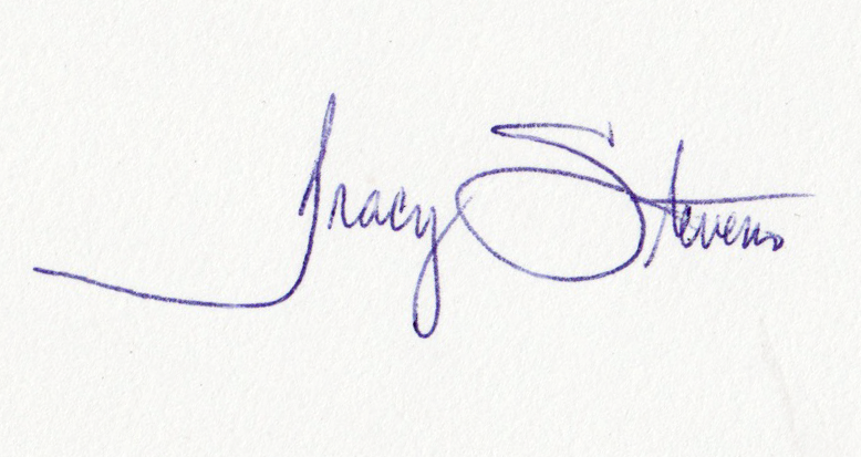 Tracy stevens Signature