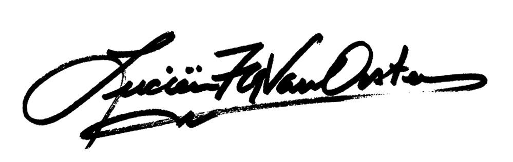 Lucien van Oosten Signature