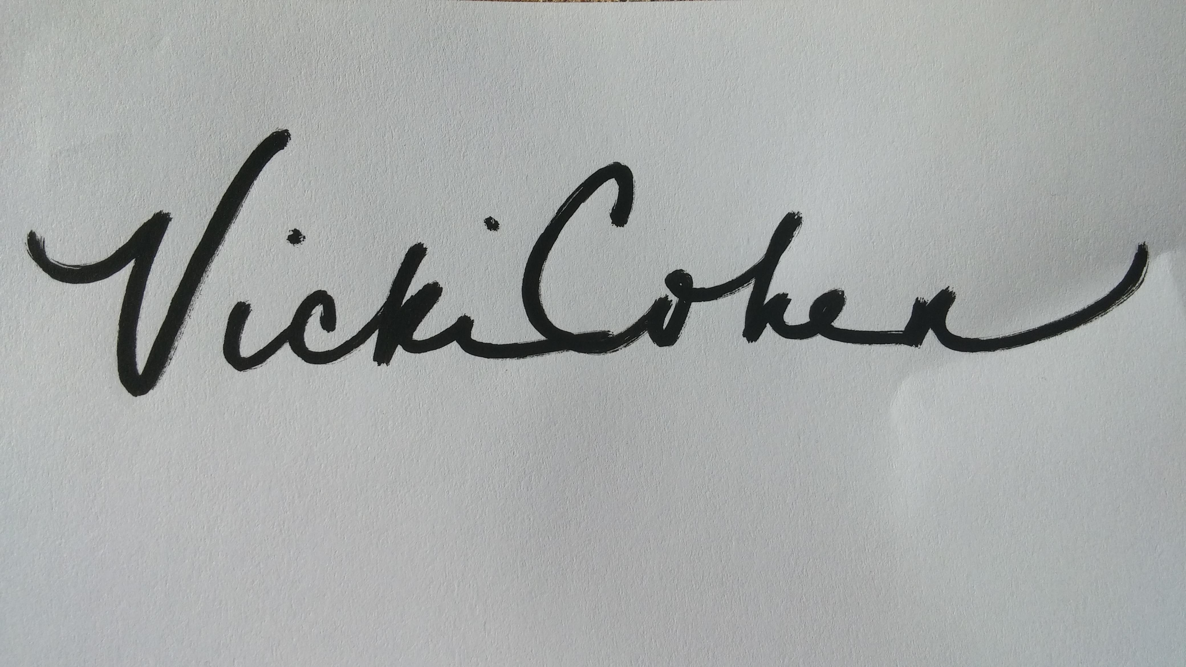 Vicki Cohen Signature