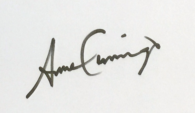 Anne Cummings Signature