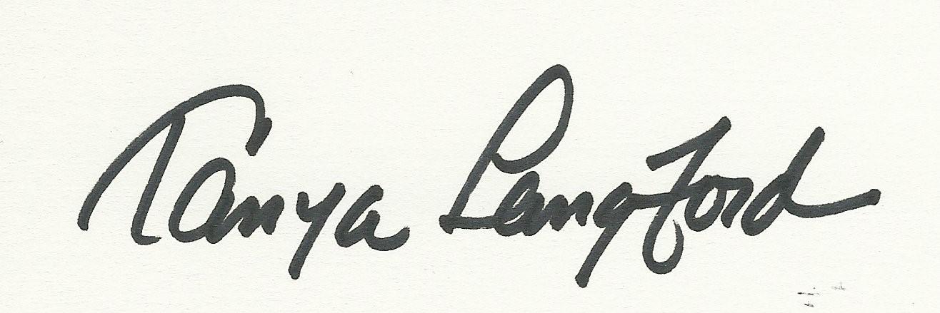 Tanya Langford Signature
