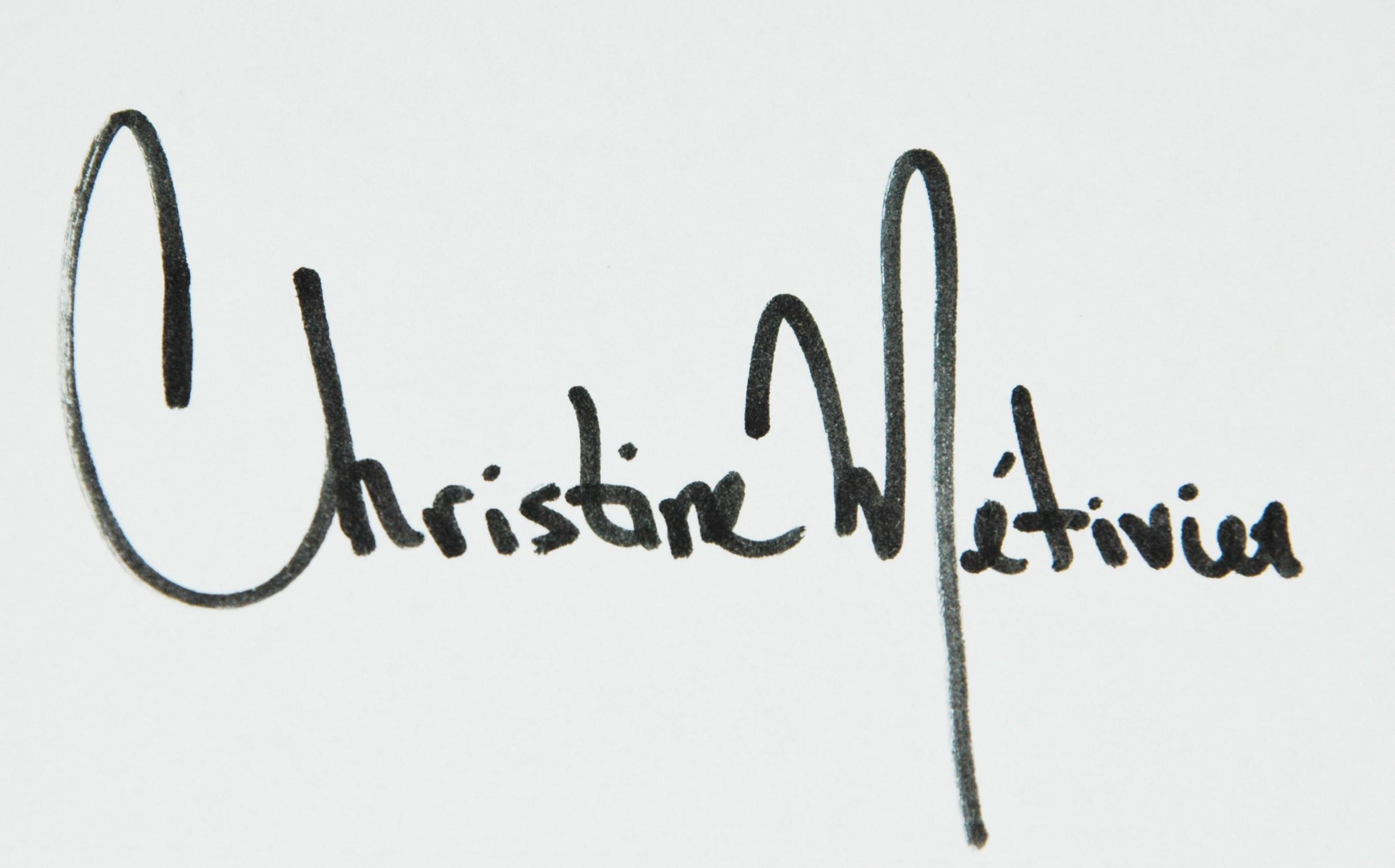 Christine Metivier Signature