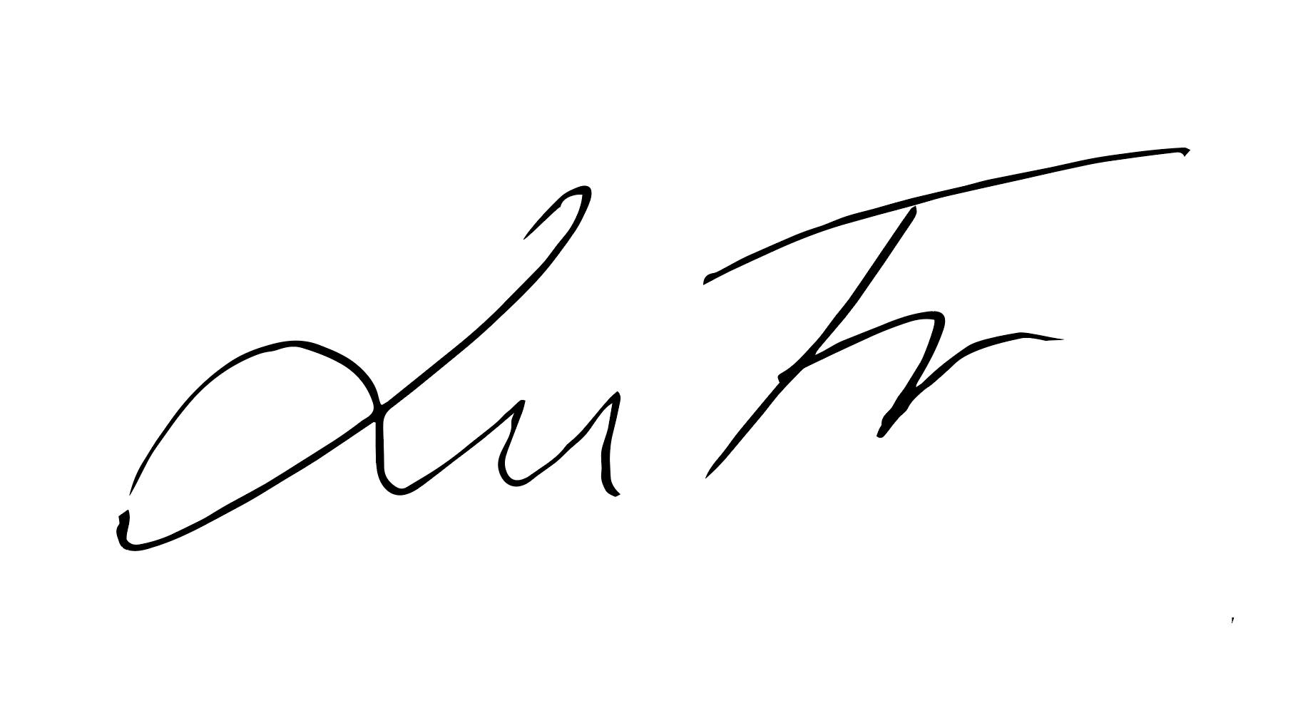Lucie FrYDLOVA Signature