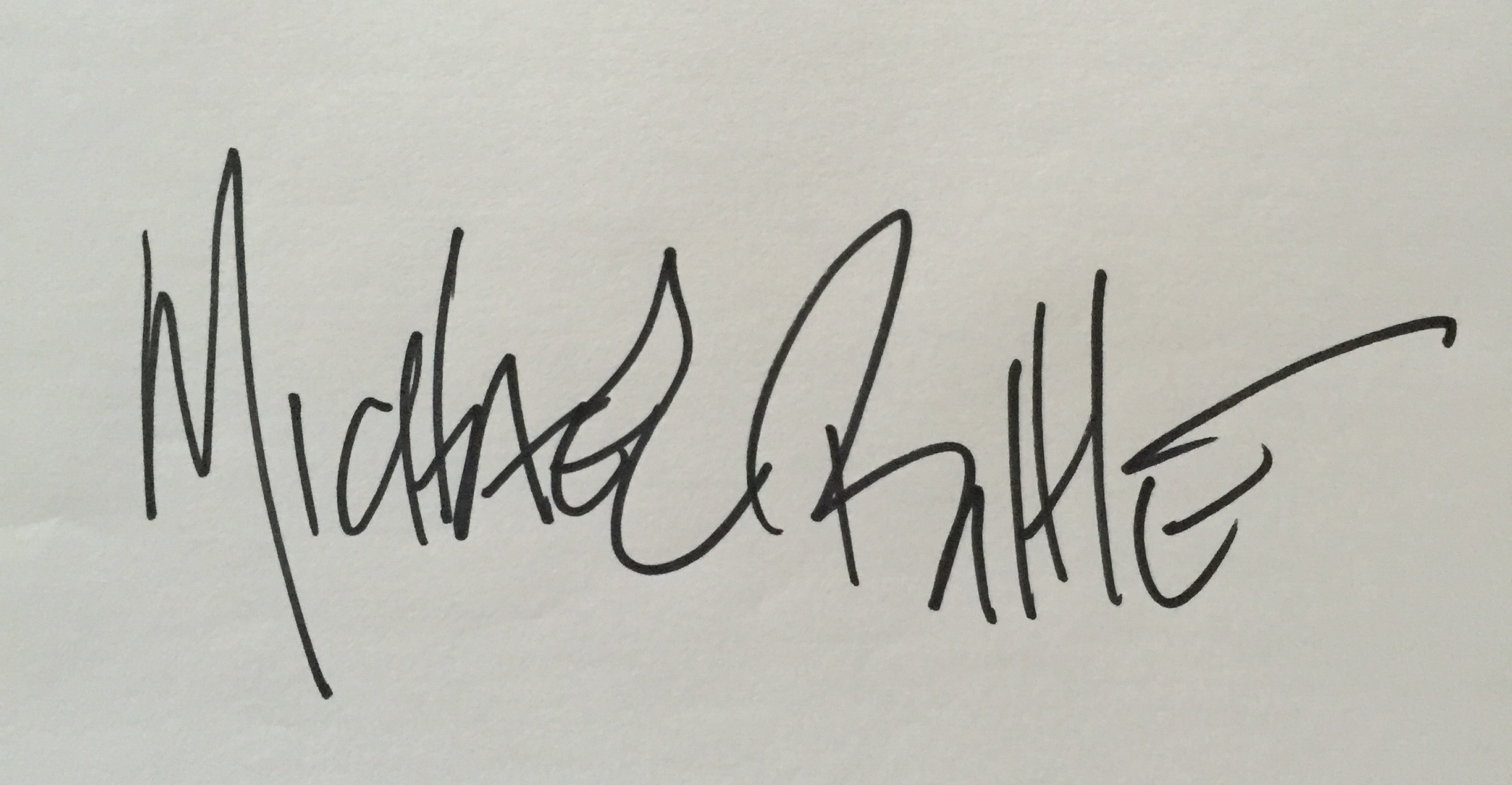 Michael Bittle Signature