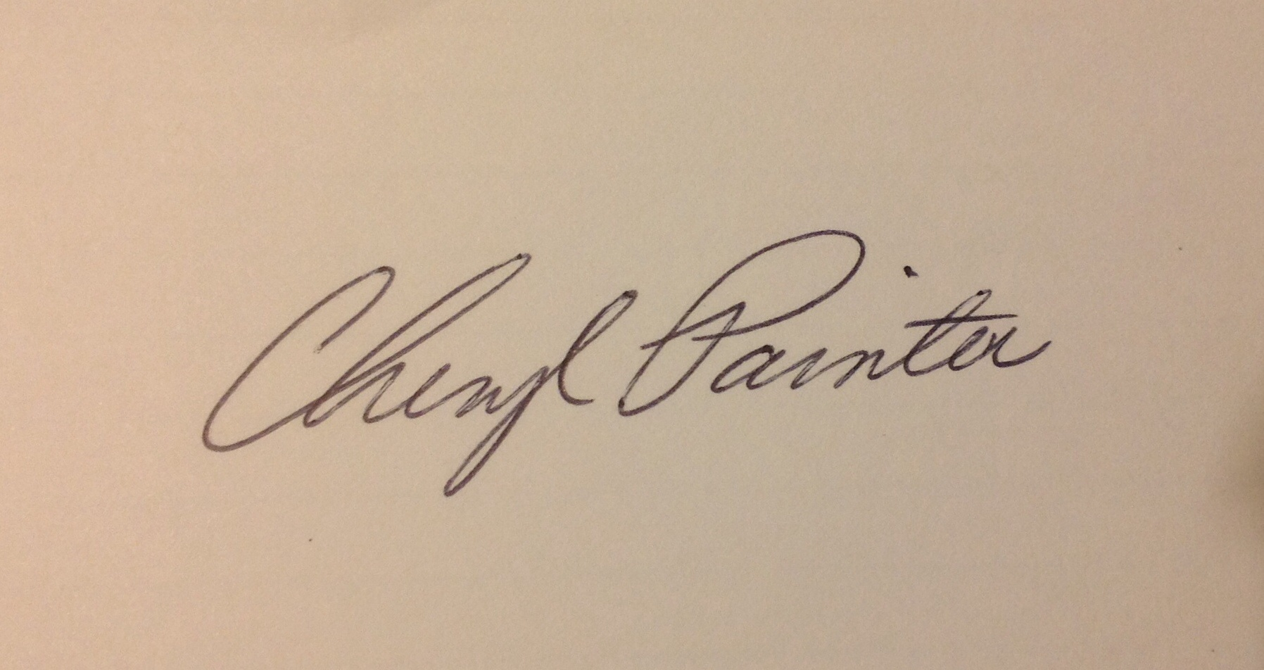 Cheryl Painter Signature