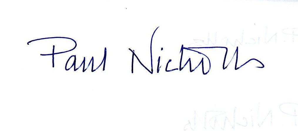 Paul Nicholls Signature