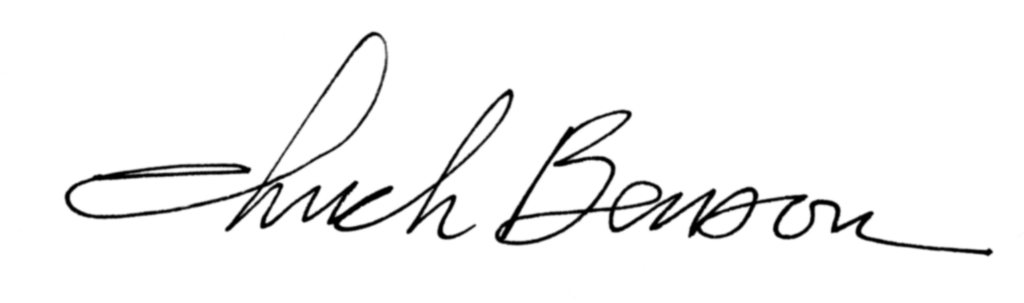 Chuck Benson Signature